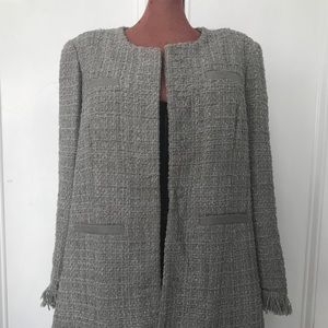 Vertigo Paris boucle jacket size L in grey